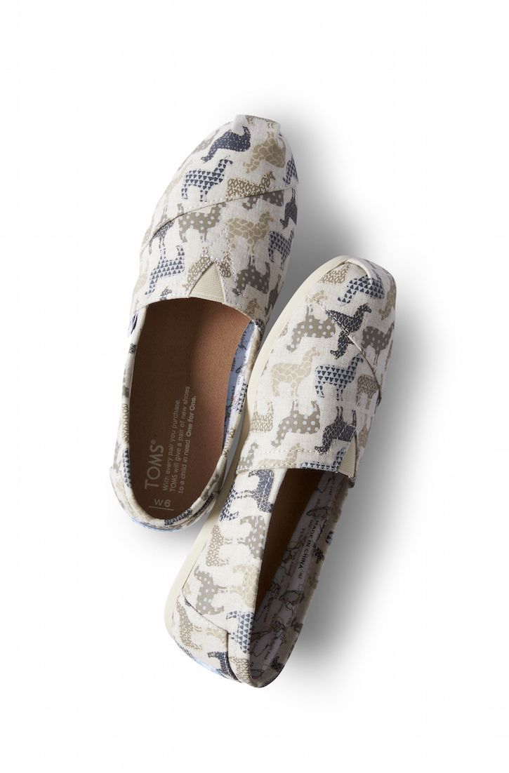 These llama printed Classics were inspired by one of the regions where we give.