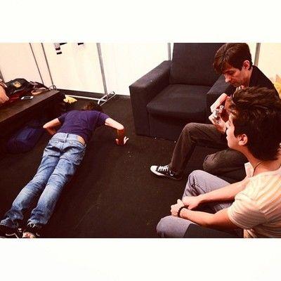 Marcelo doing a pre-show ritual before sound check at Ferro!http://instagram.com/p/W0F6Njj-tV/