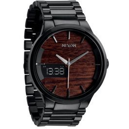 NIXON THE SPENCER DARK WOOD/BLACK - STYLO Relojeria