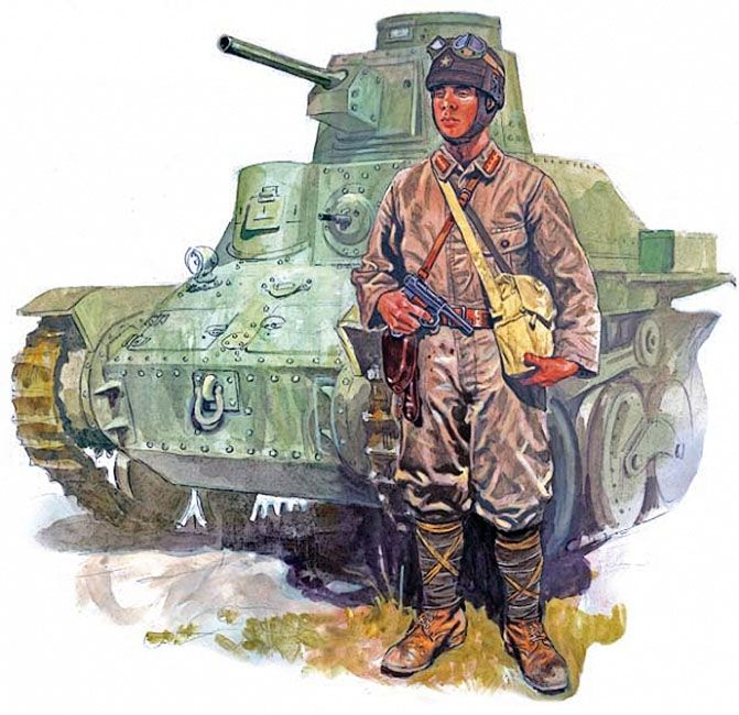 "Esercito Imperiale Nipponico - ""Japanese tank driver with a light tank Type 95 Ha-Go""   Marek Szyszko"