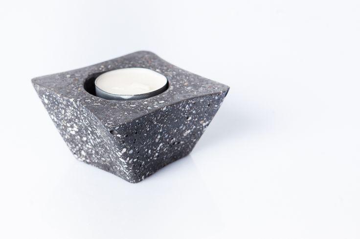 #black #candleholder #handmade #greymatters #beton #cement # concrete #texture