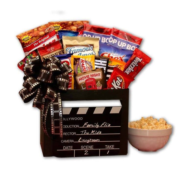 Drop Family Flix Movie Night Gift Box with 10.00 Redbox Gift Card - black (Family Movie Night Gift Box)