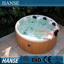 Hs-097y europe jardin spa bain à remous / rond baignoire autoportante / 7 personne spa