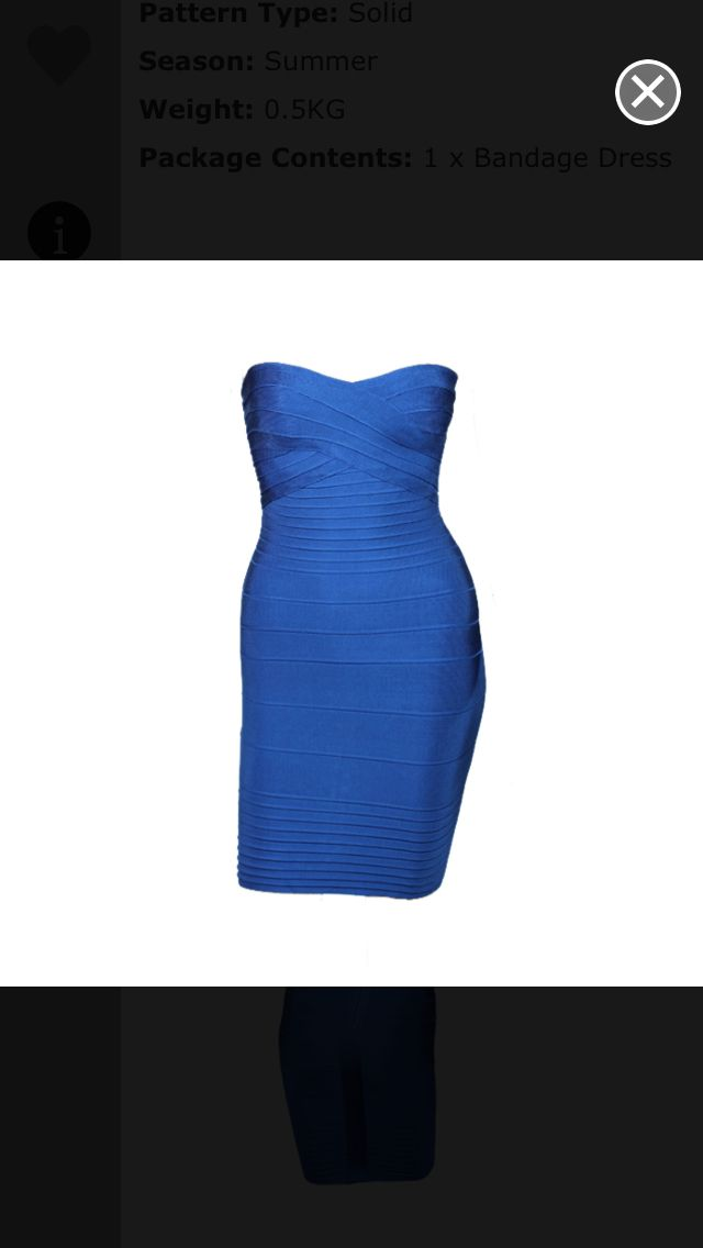 Royal blue bandage dress from www.luxxave.com $138