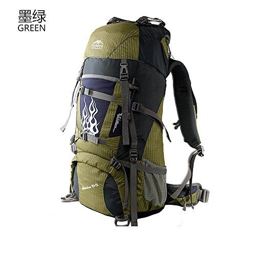 topsky 60l external frame backpacks suspended air bearing system professional hiking camping travel mountaineering backpack outdoor