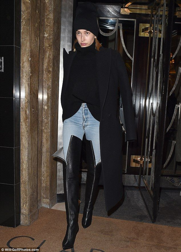 Just touched down in London town: Haley Baldwin stepped out in eye-catching style as she a...