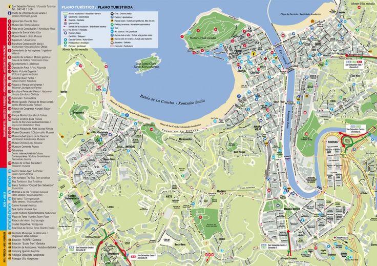 San Sebastian map - Interactive map of San Sebastian - Donostia