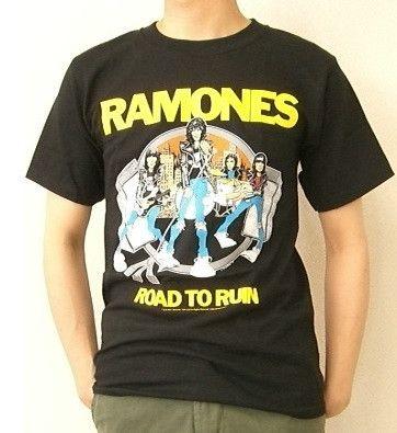 Ramones Road To Ruin Live Cartoon Men's T-shirt (Small)
