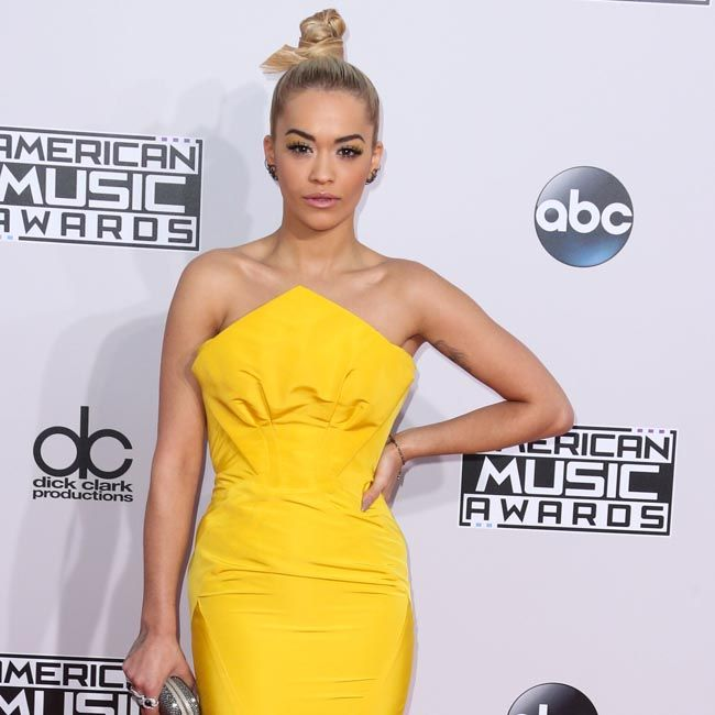 Rita Ora arrives at the 2014 American Music Awards held at Nokia Theatre LA Live