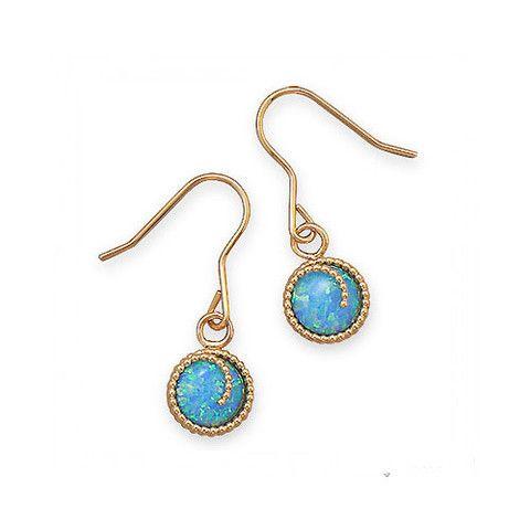 12/20 Gold Filled Synthetic Opal Earrings – Tribal Native LA