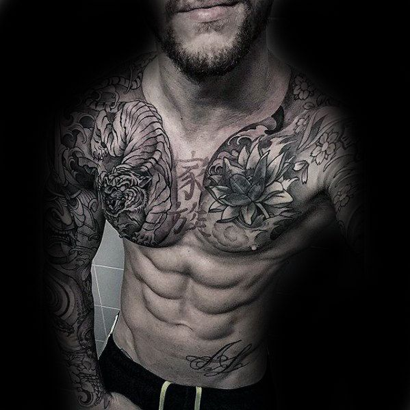 1363 Best Chest Tattoos Images On Pinterest: 30 Best Japanese Chest Tattoos For Men Images On Pinterest