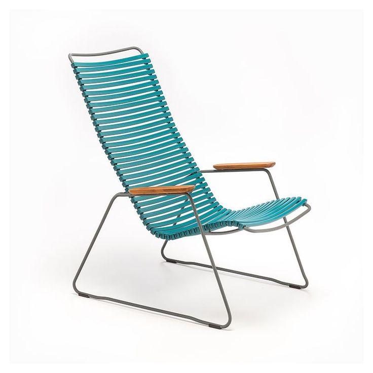 Chaise longue coloris bleu pétrole  CLICK Houe