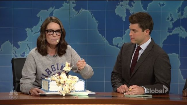 SNL Weekend Update: Tina Fey goes on cake-fueled rant, founding fathers address Trump comments