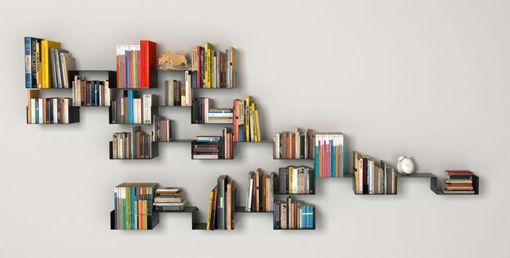 Creative Bookshelf Ideas For Home: Simple Design Coolest Wall Bookshelf Design Ideas Bookshelf