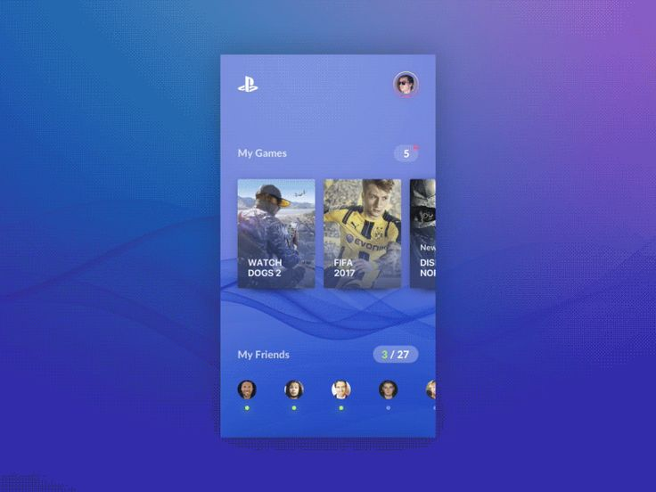 Playstation Network Mobile APP by Yury Smirnov #Design Popular #Dribbble #shots