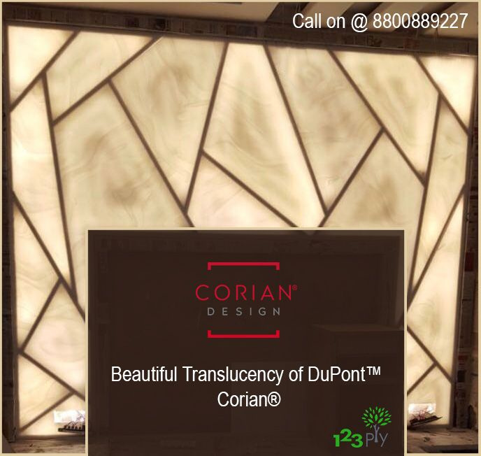 Dupont Corian Wall Panel Design With Backlit For Inquiry Contact 8800889227 9818311020 Corian Wall Panel Design Dupont Corian