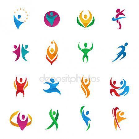 4b4a1a883e9b5 Personas de abstracto vector silueta equipos y grupos figura humana formas  logo iconos concepto diseño personajes gráficas conjunto ilustración  vectorial
