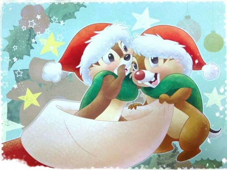 Chip an Dale At Christmas