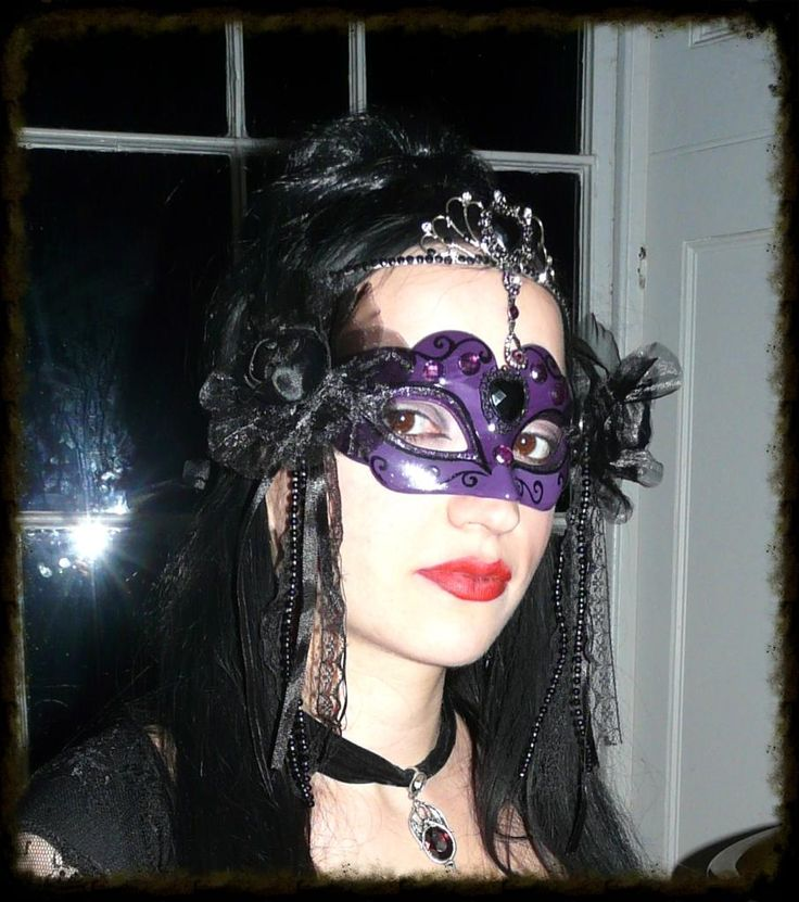 Handmade mask and tiara for The Black Rose Ball.