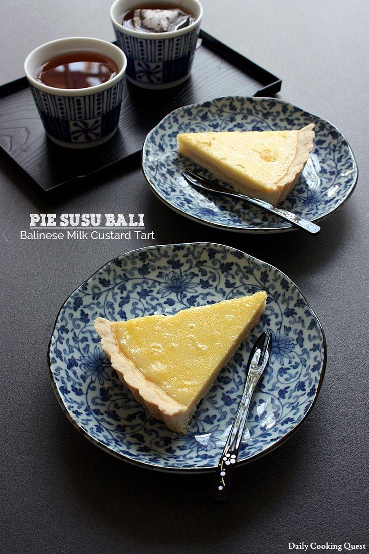 Pie Susu Bali – Balinese Milk Custard Tart