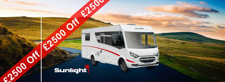 An amazing £2500 OFF Sunlight A Class at Viscount #Motorhomes, #Southampton #UK #Explore #freedom #travel #discover #adventure #explorenewspaces #ApprovedDealership #Freedomismylife #Sunlight Tel: 02380 405062