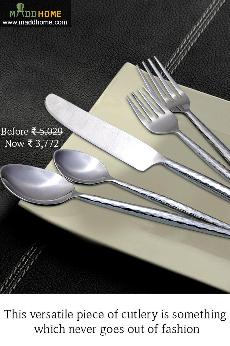 An elegant cutlery for your dining table!!  Shop now - https://goo.gl/W4viN6
