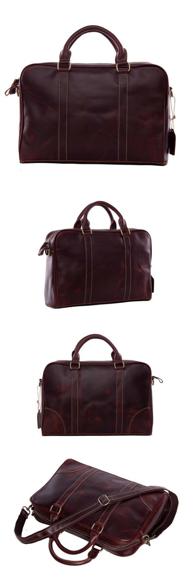 Genuine Leather Business Briefcase Men Messenger Bag Laptop Bag