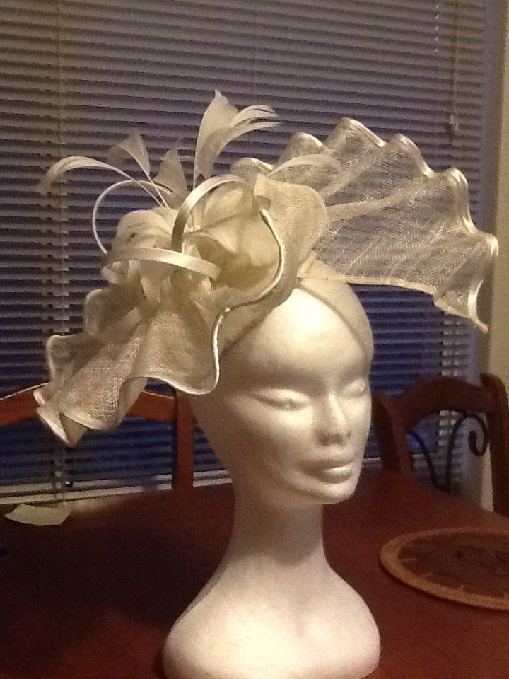 2015 Hat for the office Melbourne Cup lunch, designed and made by Kim Byrnes