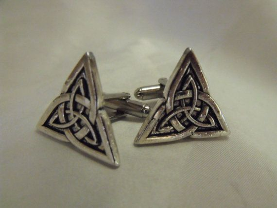 Celtic Knot Triangle Mens Cufflinks by AGothShop on Etsy, $18.00