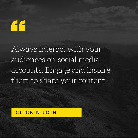 Interact with your audience on social account always help