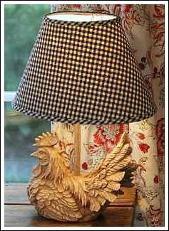 French Country Decorating Ideas! I have this lamp with red checked shade.