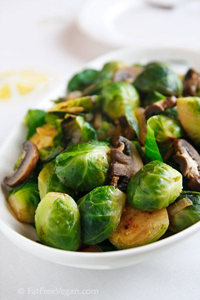 Super-Awesome Brussels Sprouts and Mushrooms