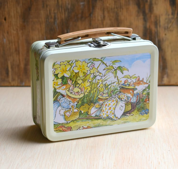 Vintage Lunch Box, Brambly Hedge Lunch Box, Keepsake Box, Royal Doulton, Storage Box, Gift Box, Mouse Picnic, Brambly Hedge 'Spring Story' by redtruckdesigns on Etsy