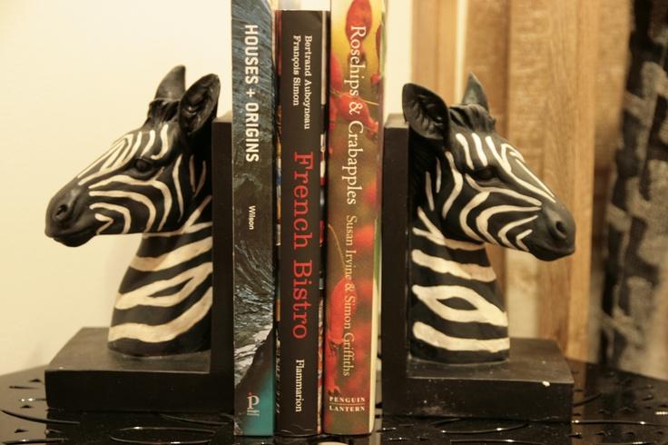 Zebra book-ends