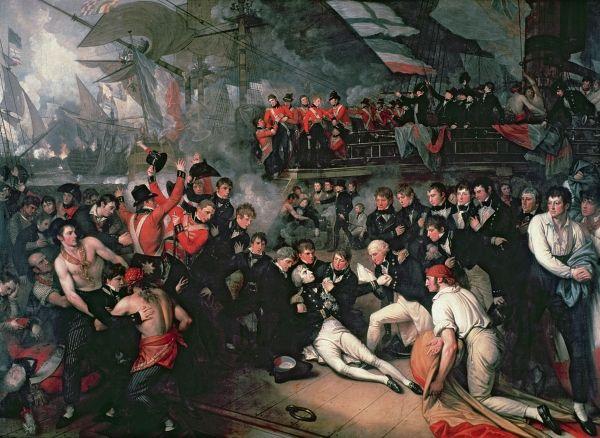Mort de l'Amiral Nelson sur le HMS Victory, par Benjamin West