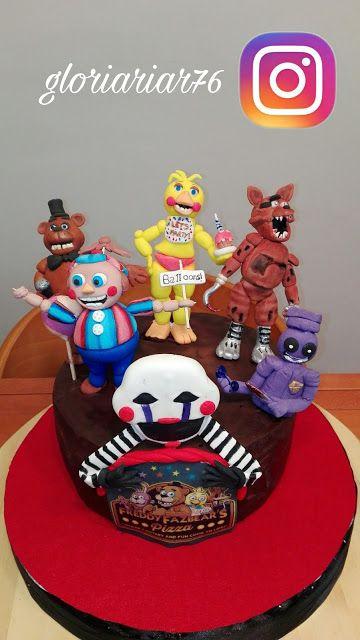 LAS DULCES TARTAS DE GLORIA:  CAKE FIVE NIGHT AT FREDDY´S     Foxy,Freddy,Chica...