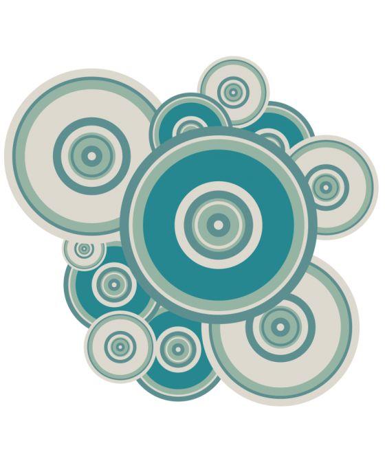 Vinilo pared atrones Circulares es ideal para cuartos de baño o habitaciones donde podemos jugar con la forma de los complementos ツ