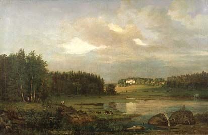 Magnus von Wright, maalaus 1861. Kumpulan kartano.