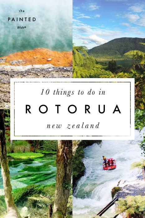 The Painted Globe - 10 awesome things to do in Rotorua - New Zealand's geothermal gem! Including gorgeous colourful surroundings at Wai O Tapu Thermal Wonderland and Hamurana Springs, plus white water rafting, ziplining and luging fun!