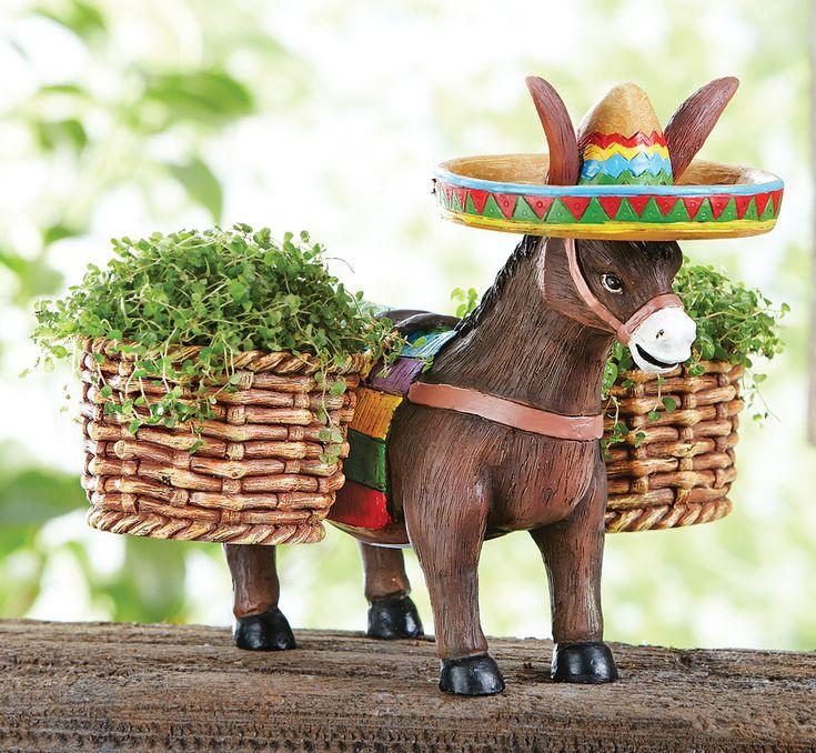 Casa Simples Mexican Garden Flower Pot Holder Garden