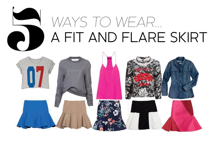 Bye-bye tube skirt, see you later skater, it's all about the fit and flare.