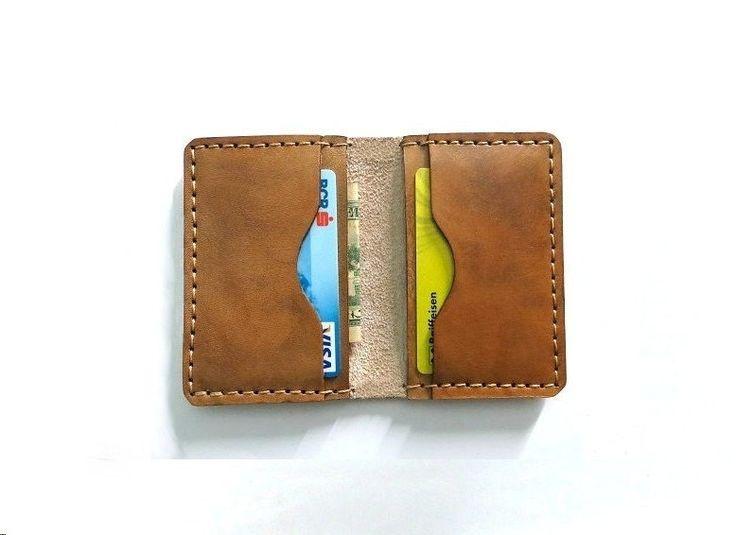 Men's Leather Wallet, Minimalist Leather Wallet, Men Slim Wallet, Credit Card Holder, handmade men's wallet - Free Monogramming by FlyntLeather on Etsy