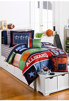 J Khaki™ Sports Bedding Collection #belk #bedding #kids love this for Carson's room