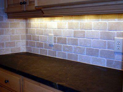 brick layout for kitchen backsplash - Ubahn Fliese Backsplash Ideen