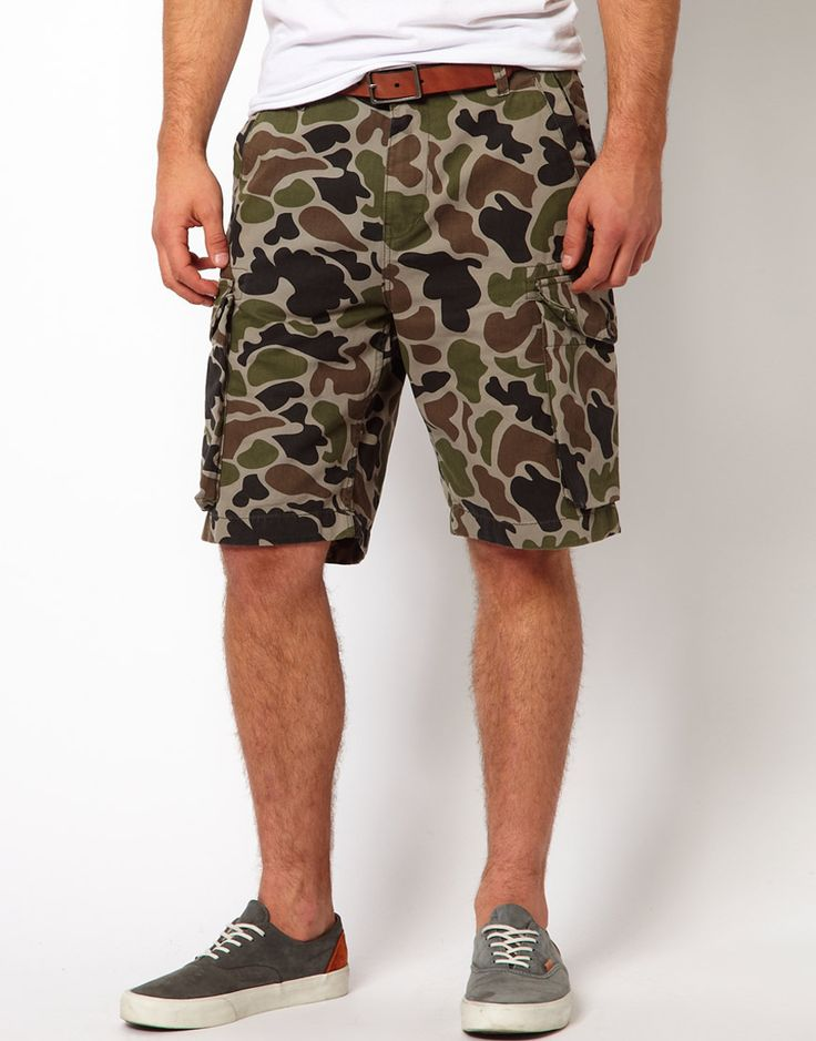 $56, Cargo Shorts Sentry Camo Ripstop by Addict. Sold by Asos. Click for more info: http://lookastic.com/men/shop_items/51931/redirect