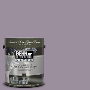 For the bathroom walls!    Inspiration pulled from The Clift hotel and this look http://www.houzz.com/photos/997177/Kitchen-and-Master-Bathroom-Addition-traditional-bathroom-boston   BEHR Premium Plus Ultra 1-gal. #UL250-17 Duchess Lilac Interior Semi-Gloss Enamel Paint-375401 at The Home Depot