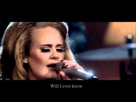 Adele - One And Only HD (OFFICIAL VIDEO LYRICS LIVE)