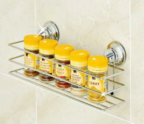 """Everloc 2.6"""" x 2.9"""" x 12"""" Suction Cup Caddy - EL-10104 by Everloc. Save 45 Off!. $19.84. EL-10104 Features: -Patented suction cup adheres to glass, fiberglass, tile (avoid the grout lines), Plexiglas, Formica, quartz and processed stone, enamel painted surfaces, sealed wood, laminated surfaces and all other non-porous surfaces.-Holds on textured surfaces.-No tools required for installation.-Can be removed and re-applied multiple times. Color/Finish: -Polished Chrome finish. Dimen..."""