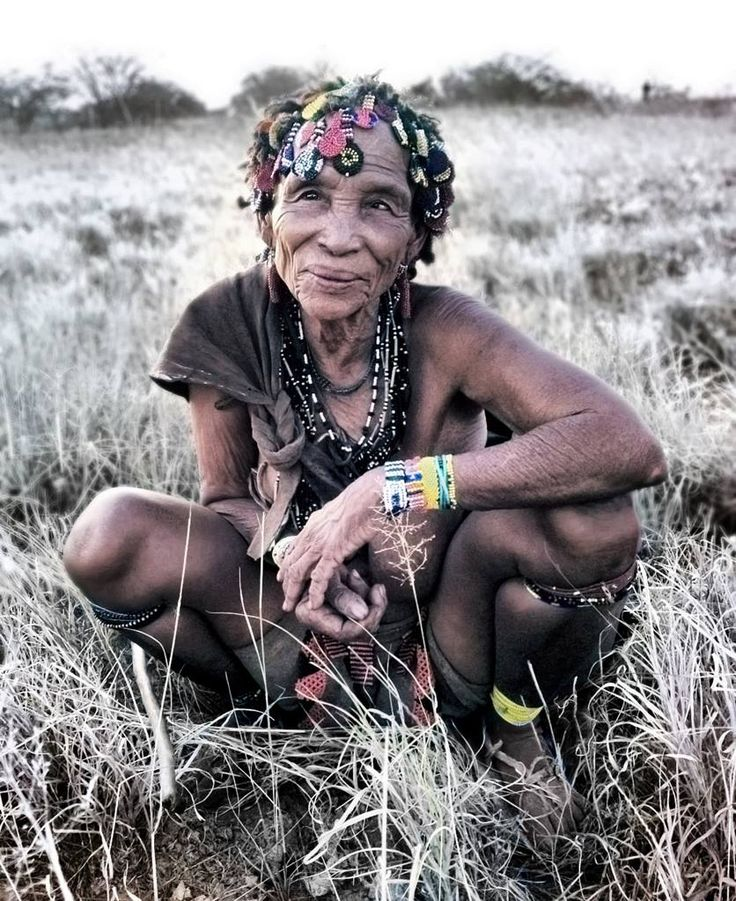 Africa   'Shaman' Zu/'hoasi Bushmen natural healer. Western Kalahari, Botswana   ©Ana Cissa Pinto