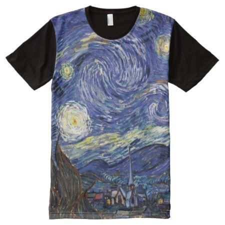 Van Gogh - The Starry Night All-Over-Print Shirt - click/tap to personalize and buy